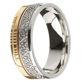 Faith Ogham Band - Trinity 14K Two Tone Gold