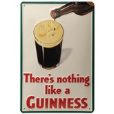 Guinness Smiling Pint Metal Sign