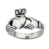 Stainless Steel Mans Claddagh Ring