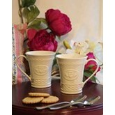 Belleek Claddagh Mugs - Pair