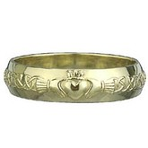 10k Yellow Gold Claddagh Band Discontinued