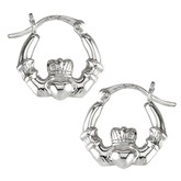 Sterling Silver Claddagh Creole Small