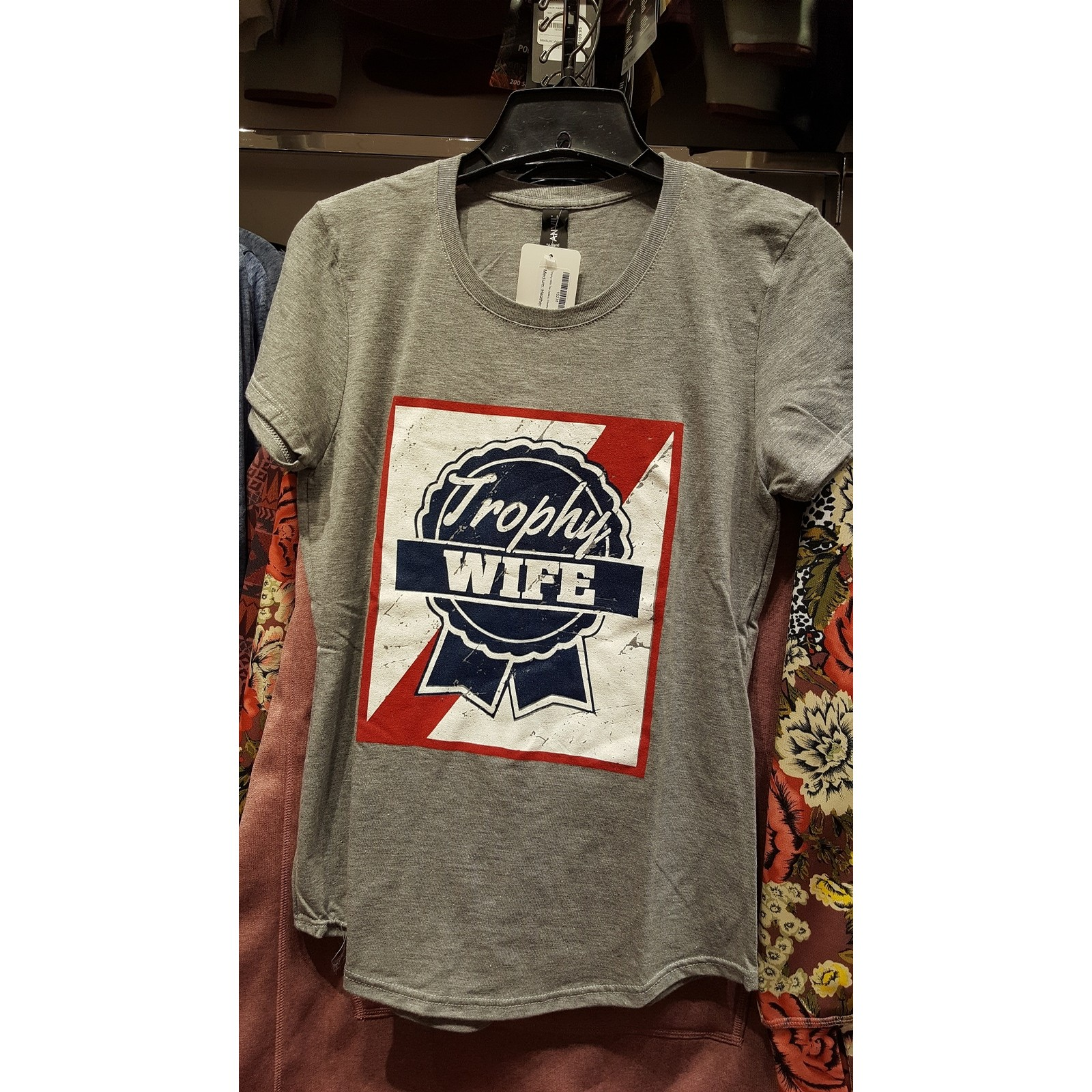 Trophy Wife Tee (ladies) (Heather Grey)