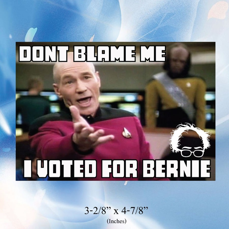 Dont Blame Me I Voted For Bernie Sticker