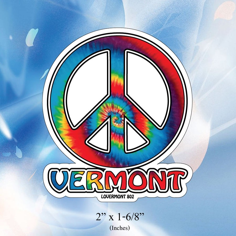 VT Peace Sticker (Mini) (Tie Dye)