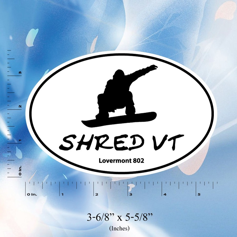 Shred VT Euro Sticker