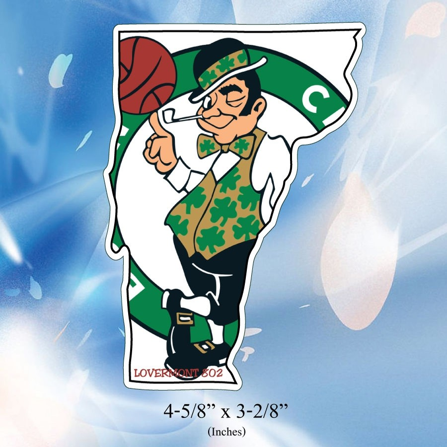 VT State Outline Sticker (Celtics)
