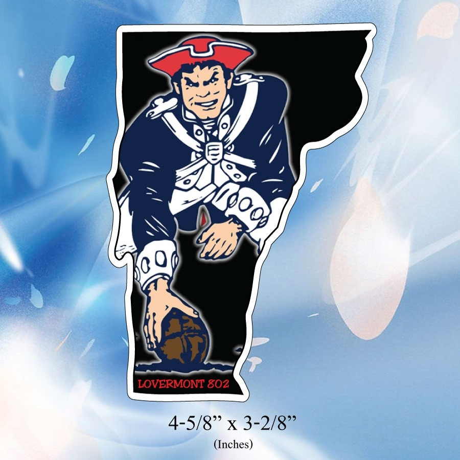 VT State Outline Sticker (Patriots)