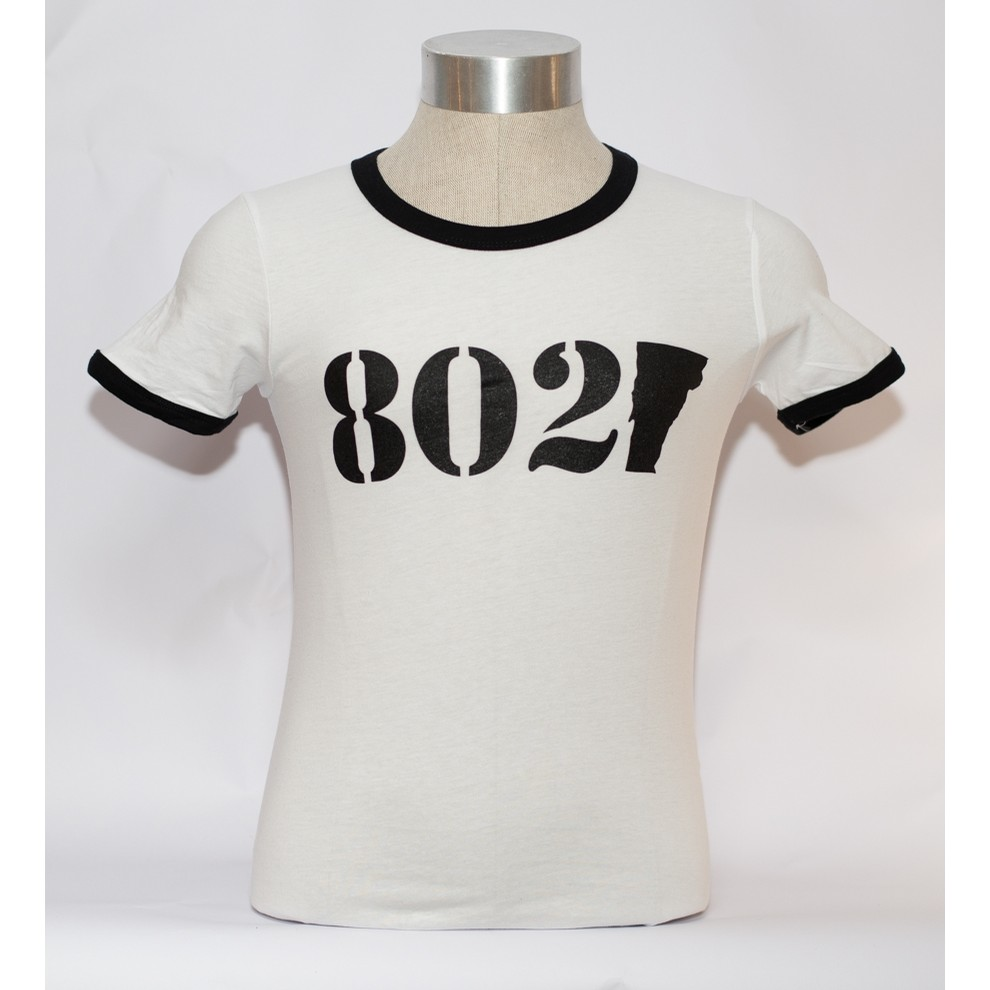 802 Classic Ringer Tee (Ladies) (White/Black)