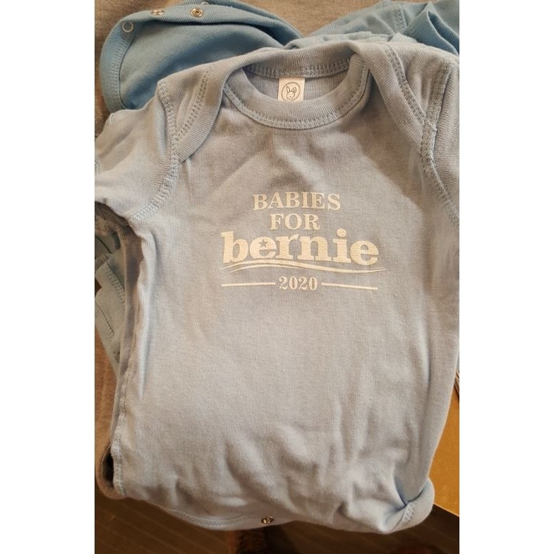 Babies For Bernie 2020 onesie (Light Blue)