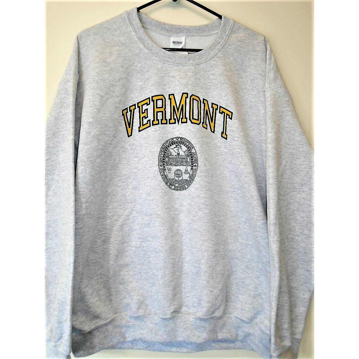 UVM VT Seal Crew (Ash/Forest-Yellow)