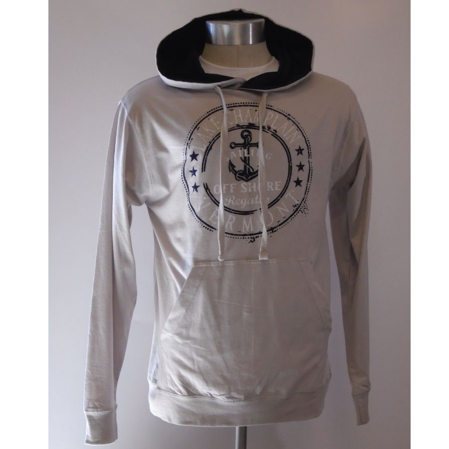 Anchor Stamp Lightweight Jersey Hood (Ice Grey)