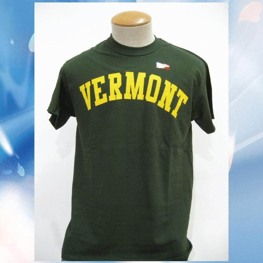 UVM VT Arch Tee (Forest/Yellow)