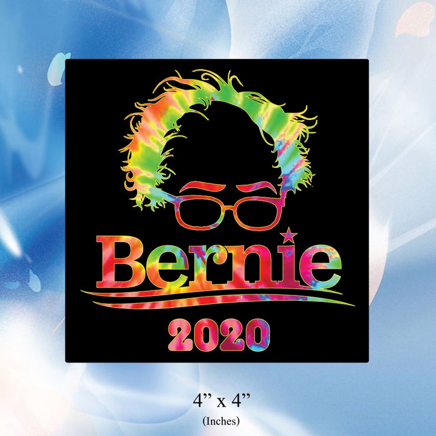 Bernie 2020 Sticker (Black/Tie Dye)