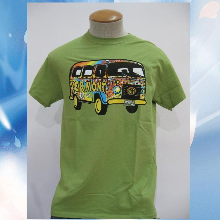 Lovermont Hippie Bus Tee (Kiwi)