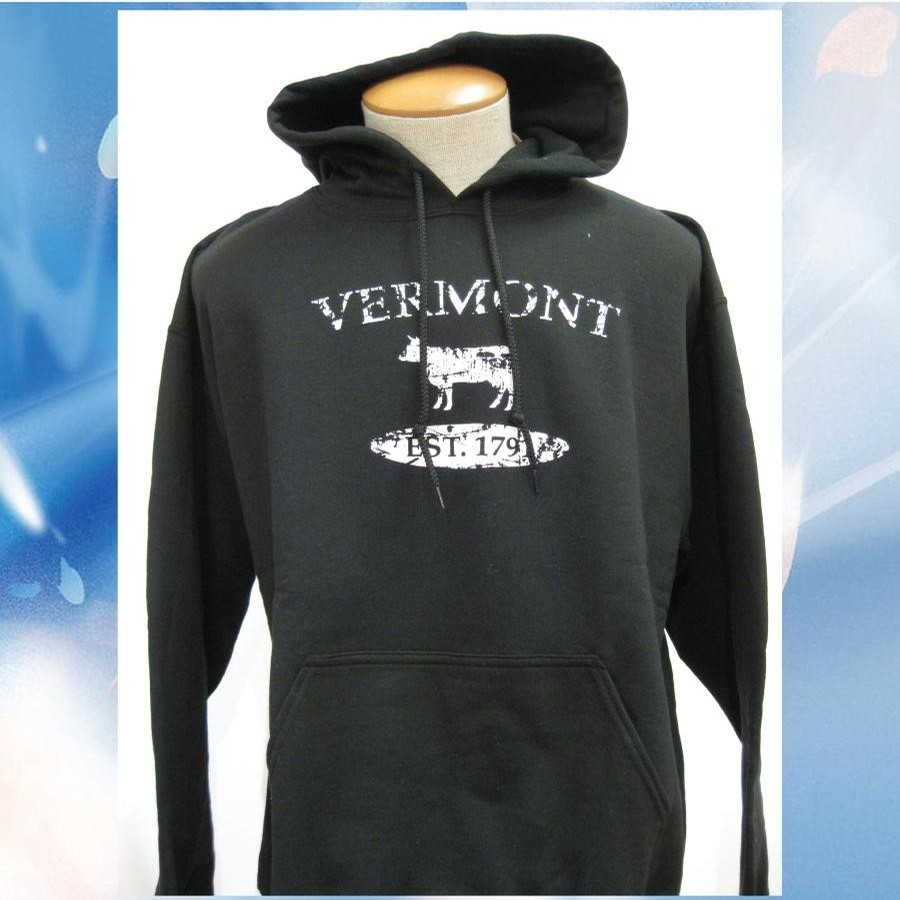 Lovermont VT Distressed Cow Hood (Black/White)