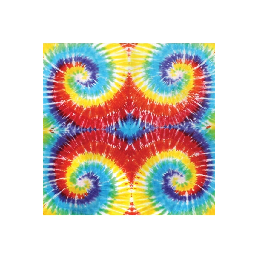 Multi-Spiral Tie Dyed Tapestry 60x90
