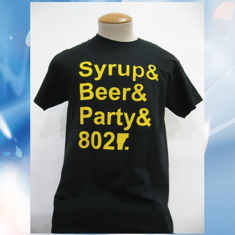 Syrup Beer Party Tee (Black/Yellow)