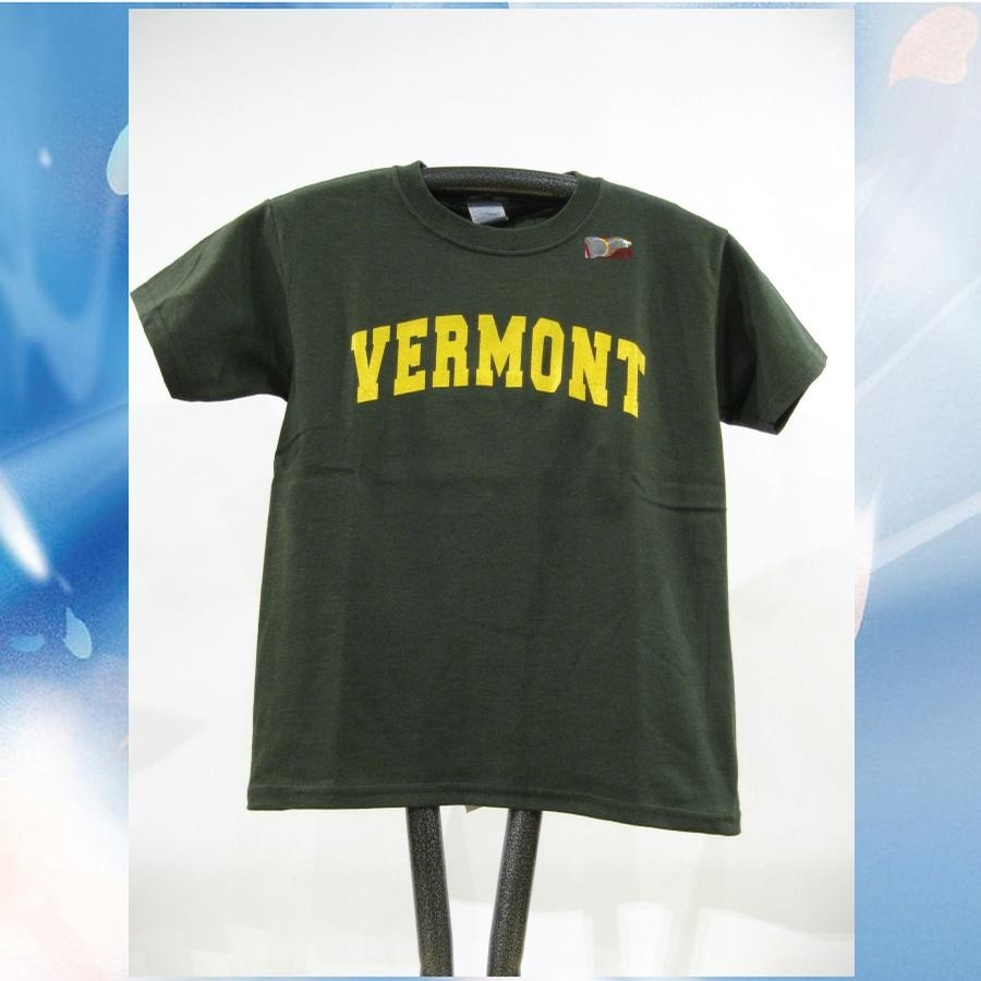 UVM VT Arch Tee (kids) (Forest/Yellow)