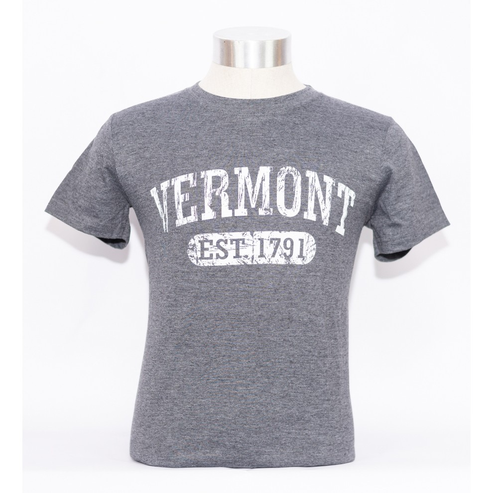 VT Est 1791 Tee (Heather Charcoal)