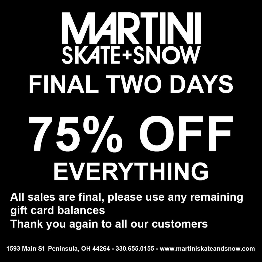 Martini - FINAL WEEK - Store Closing Oct 15th