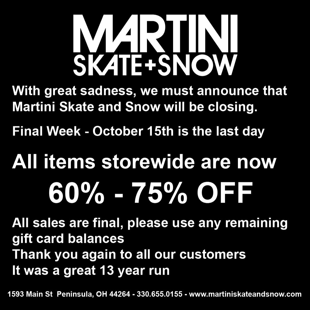 Martini - FINAL WEEK - Store Closing Oct 15th