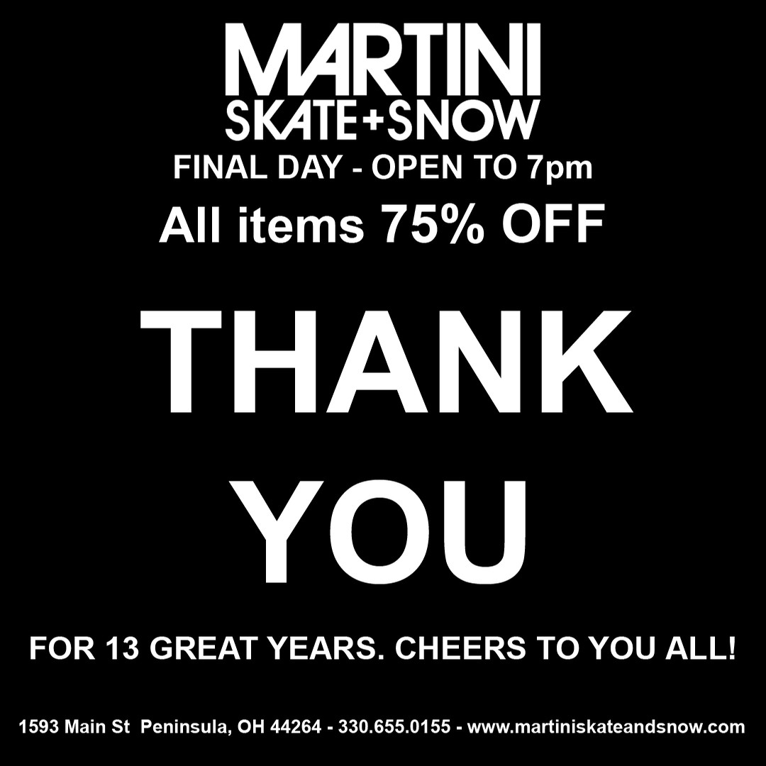 Martini - Store Closing Oct 15th