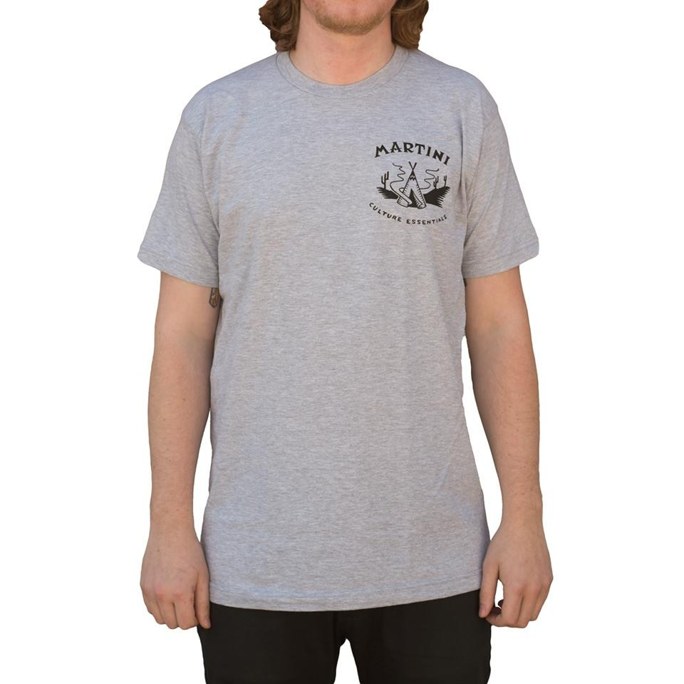 Martini Dueling Death S/S Tee (Heather Grey)