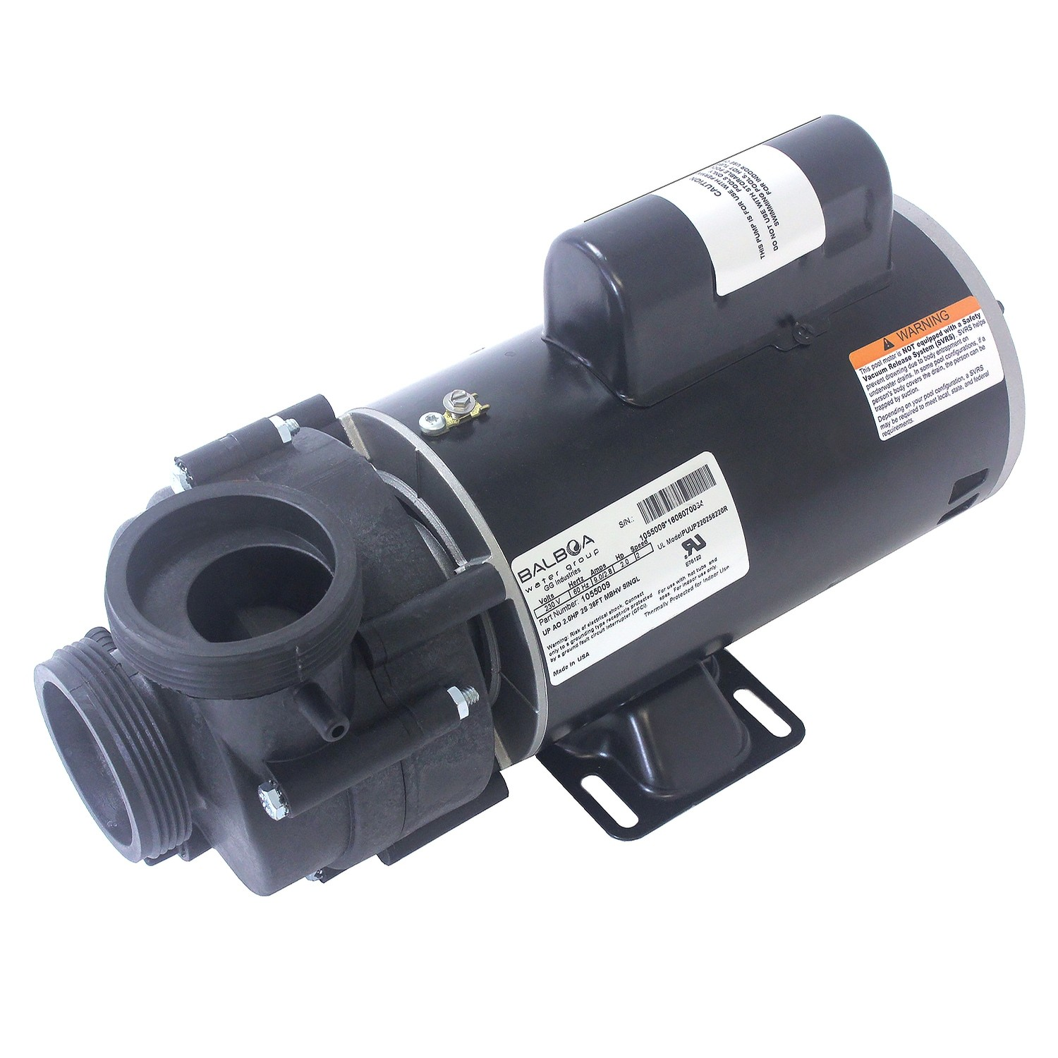 "Pump Vico Ultima Plus, 2HP, 230V, 10.5AMP, 2-SPEED2"", 48 FRAME"