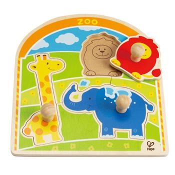 HaPe At the Zoo Knob Puzzle