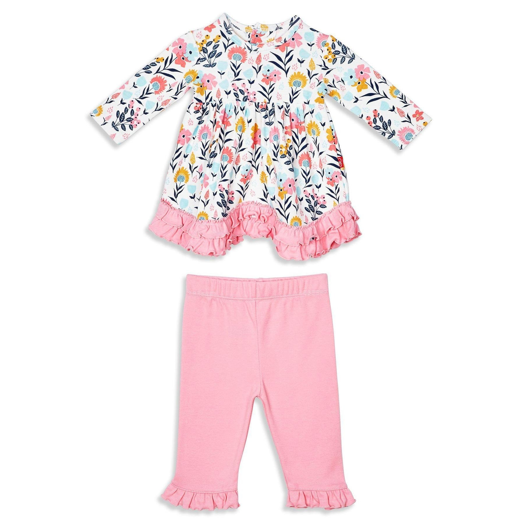 Organic Cotton Magnetic Dress Set with Pants (Sussex Floral)