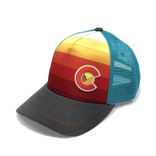 Kids Sunset Fader Trucker Hat