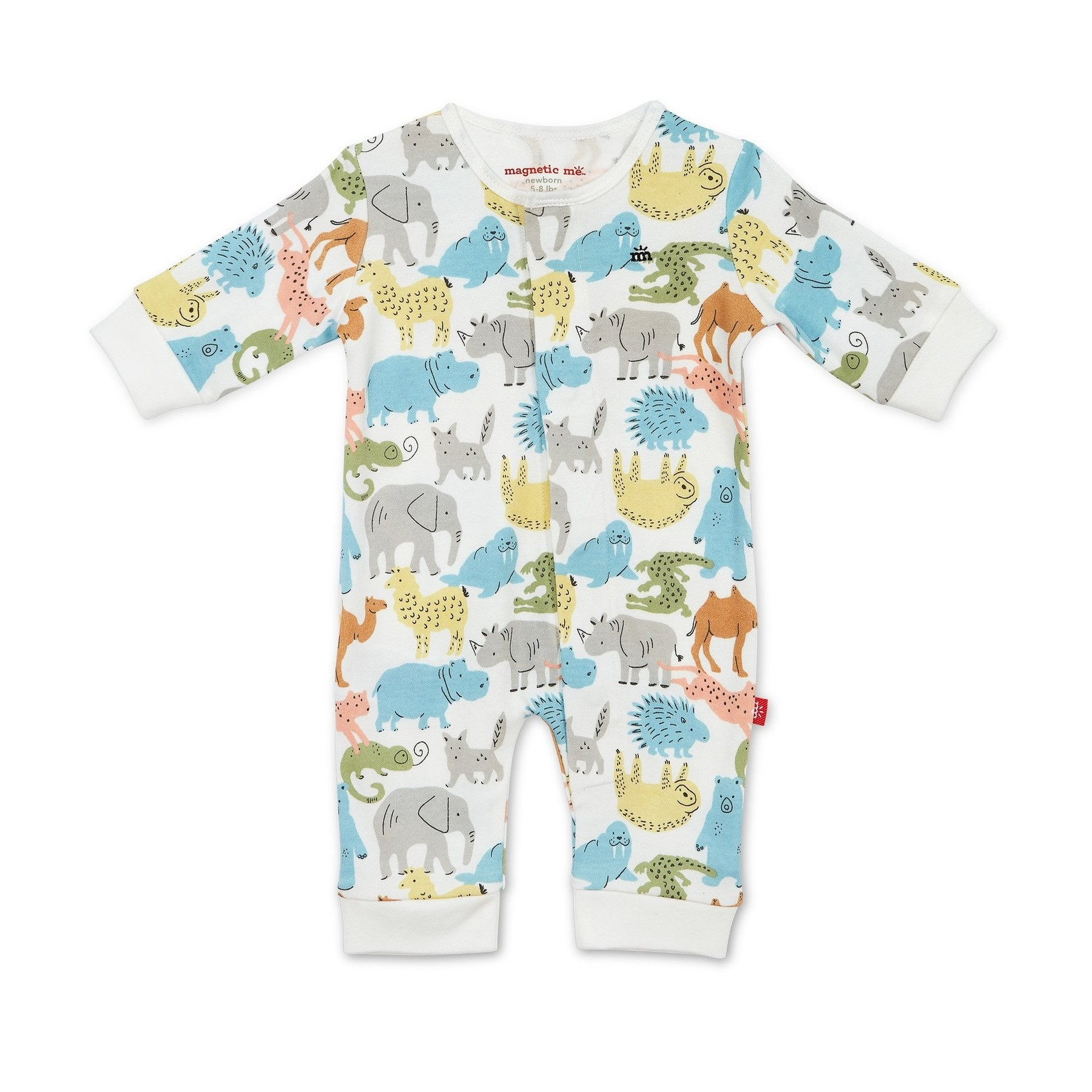 Zoo Crew Organic Cotton Magnetic Coverall