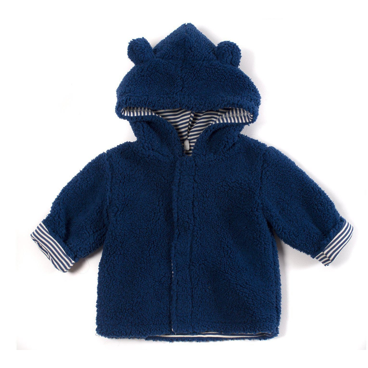 Fleece Magnetic Hooded Jacket (Blueberry)