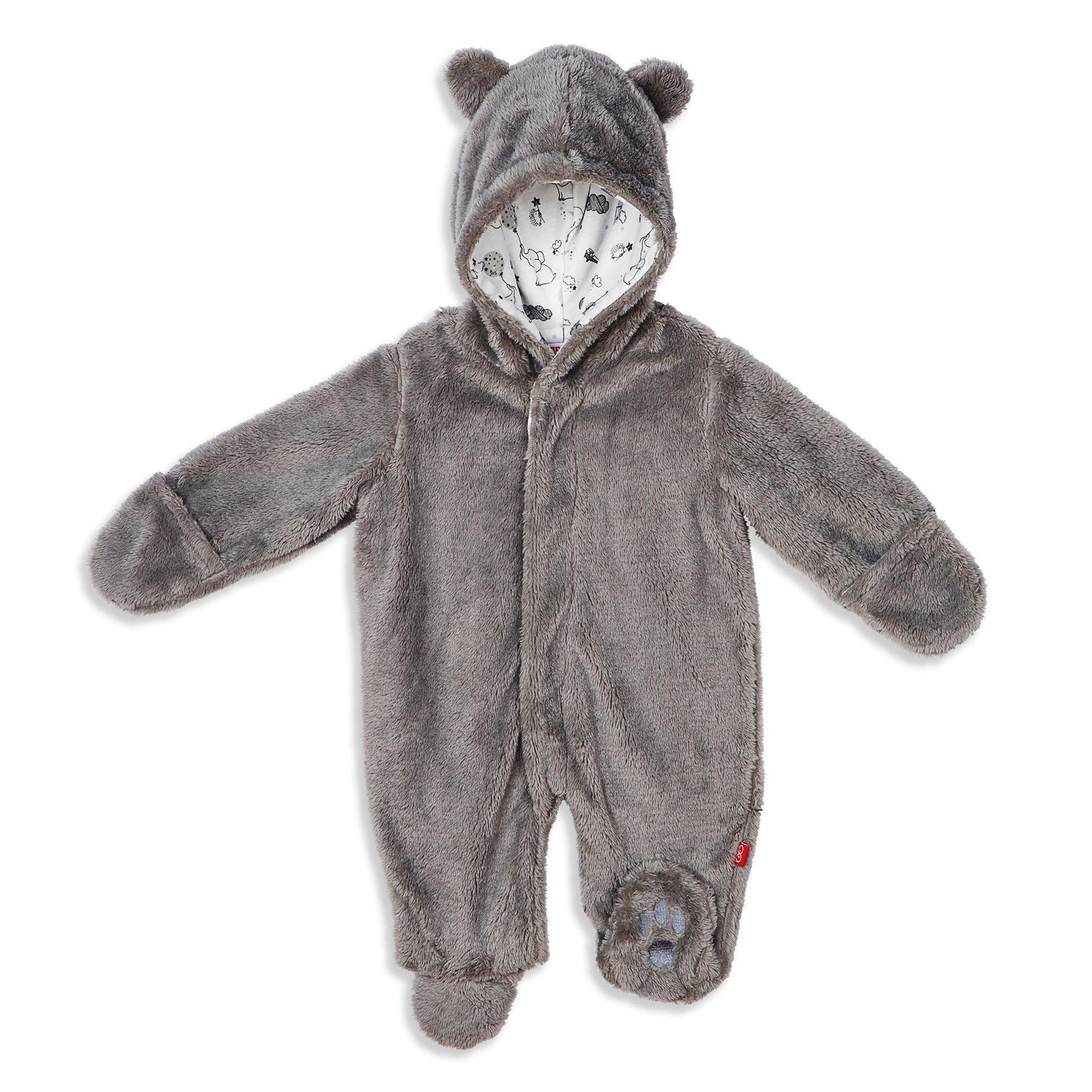 So Soft Minky Fleece Magnetic Snowsuit Bunting Pram (Drizzle)