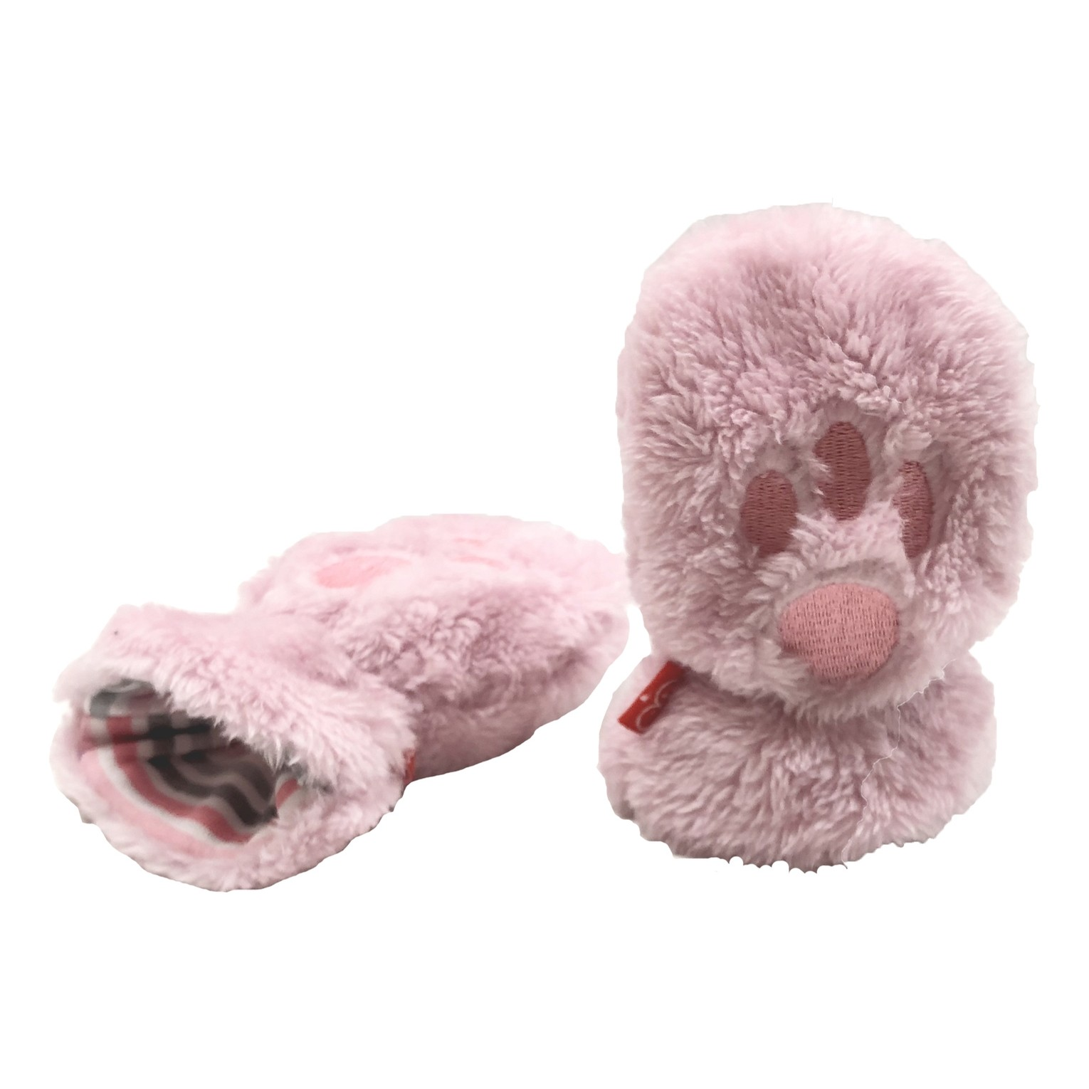 So Soft Minky Fleece Magnetic Mittens (Peony Pink)