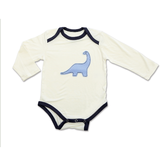 Bamboo Long Sleeve Onesie (Dino)