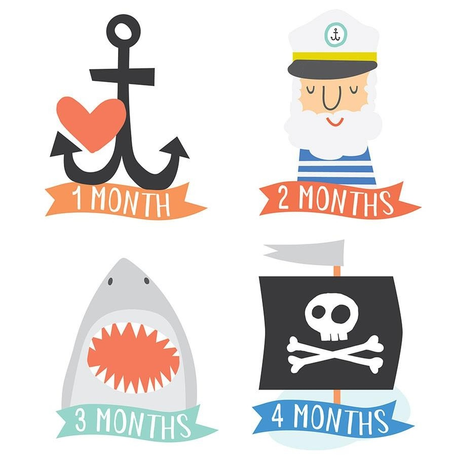 Little Captain Belly Stickers
