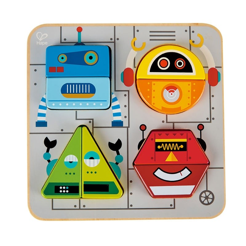 Robot Sort and Stand Up Puzzle