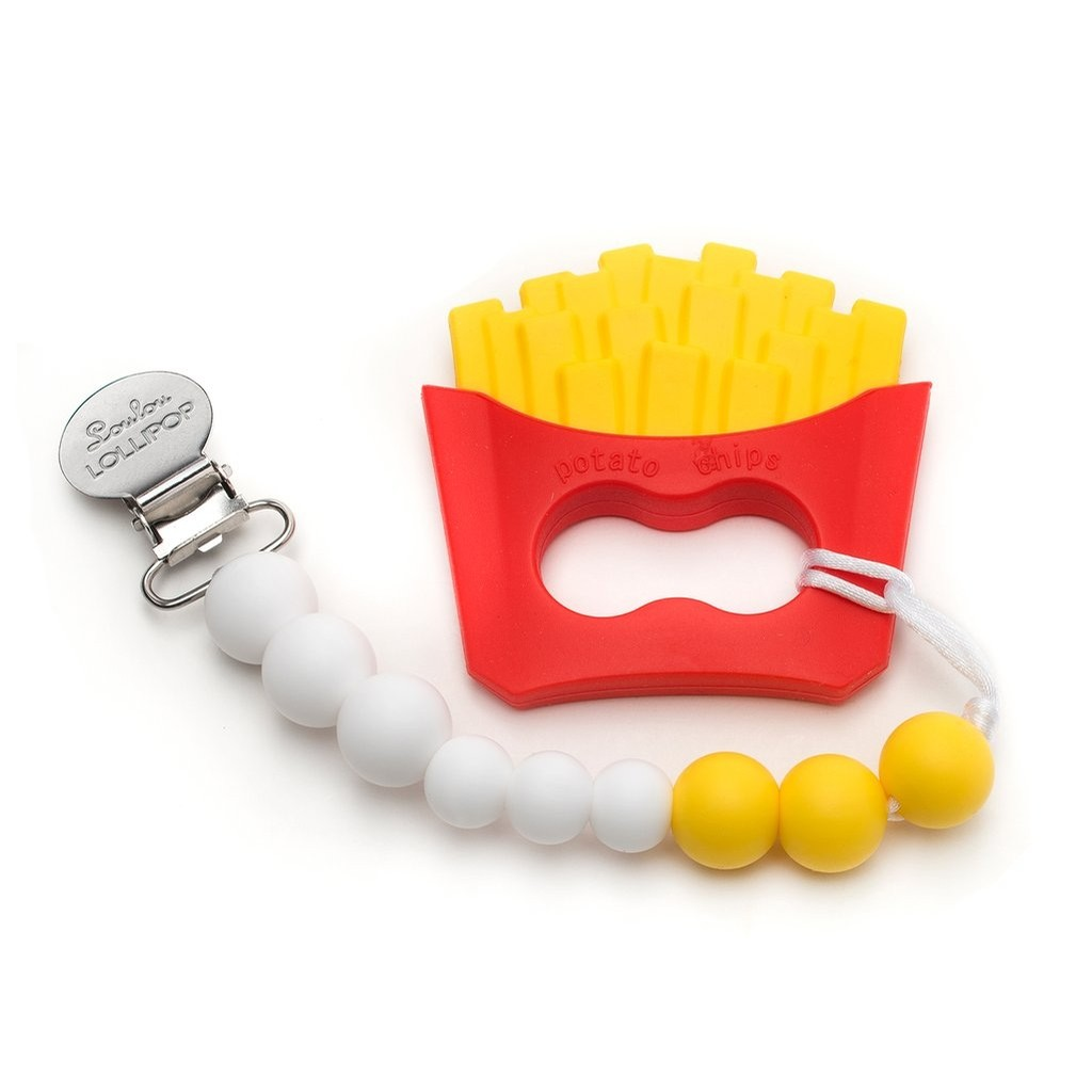 Silicone Teether Clip Set (French Fries)