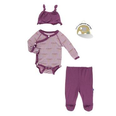 Paleontology Ruffle Kimono Newborn Gift Set