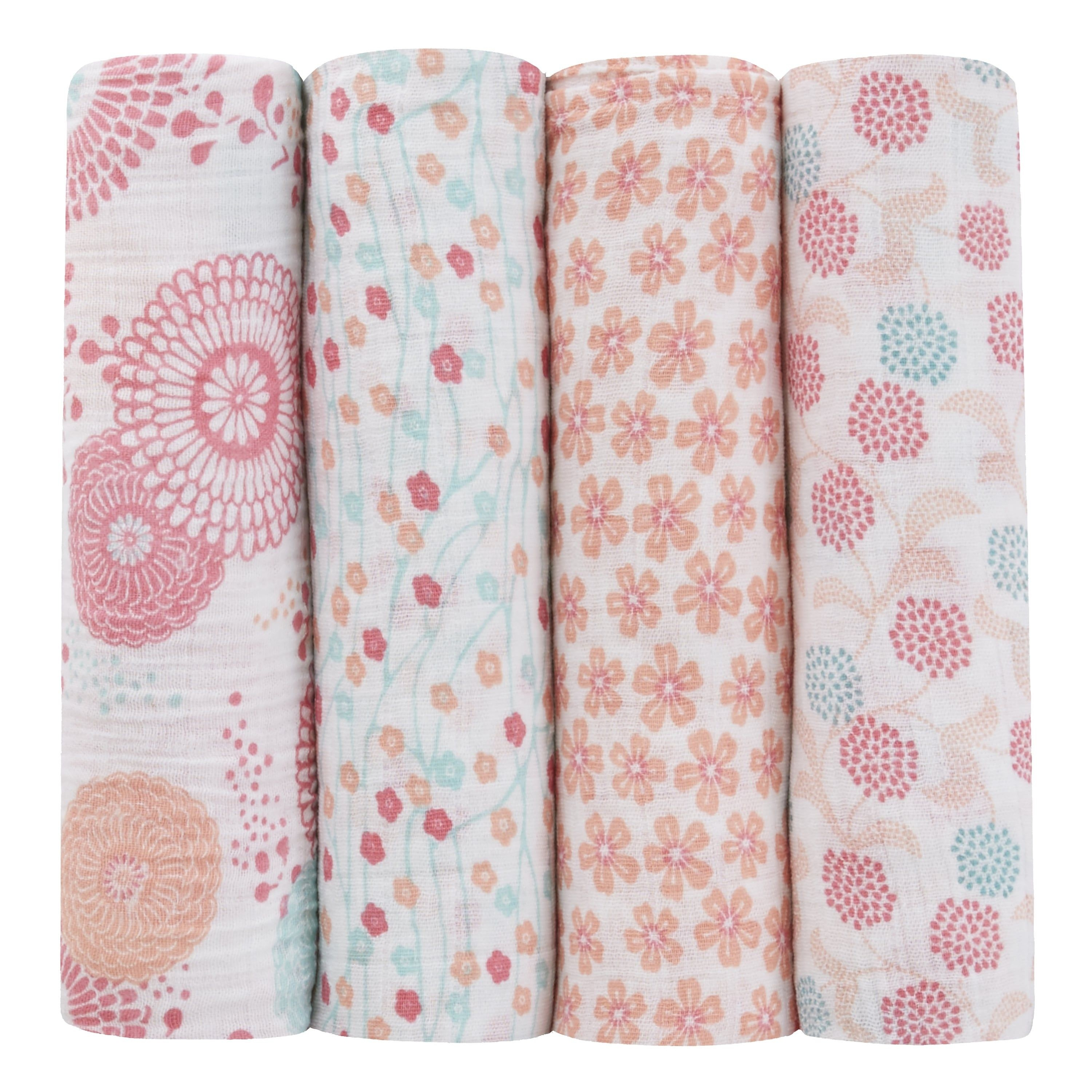 Tea Collection Classic Swaddles 4-pack (Global Garden)