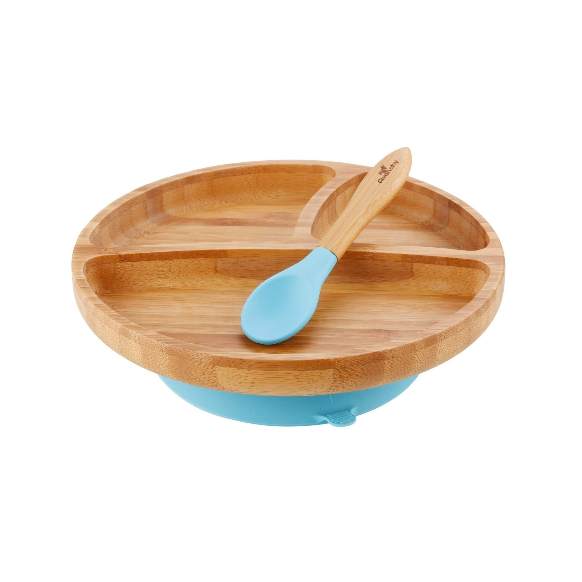Bamboo Silicone Toddler Plate + Spoon