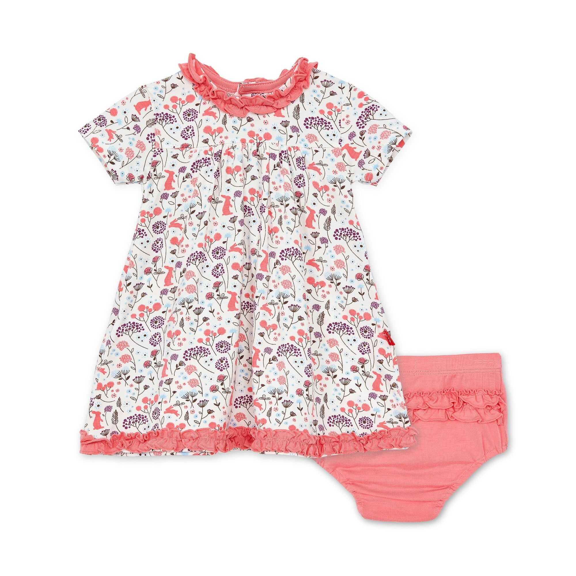 Beatrix Floral Modal Magnetic Dress And Diaper Cover