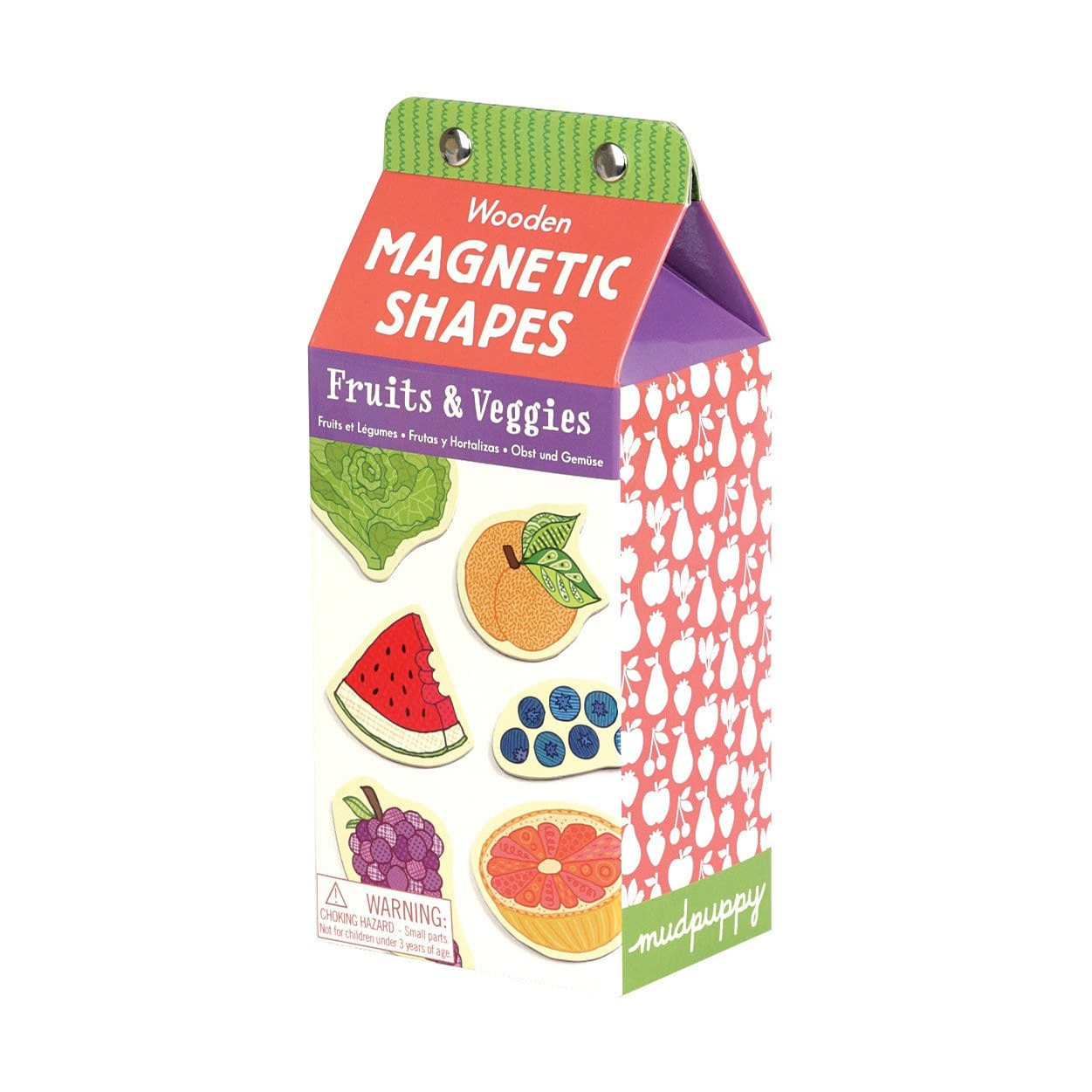 Mudpuppy Press Wooden Magnetic Set (Fruit and Veggies)