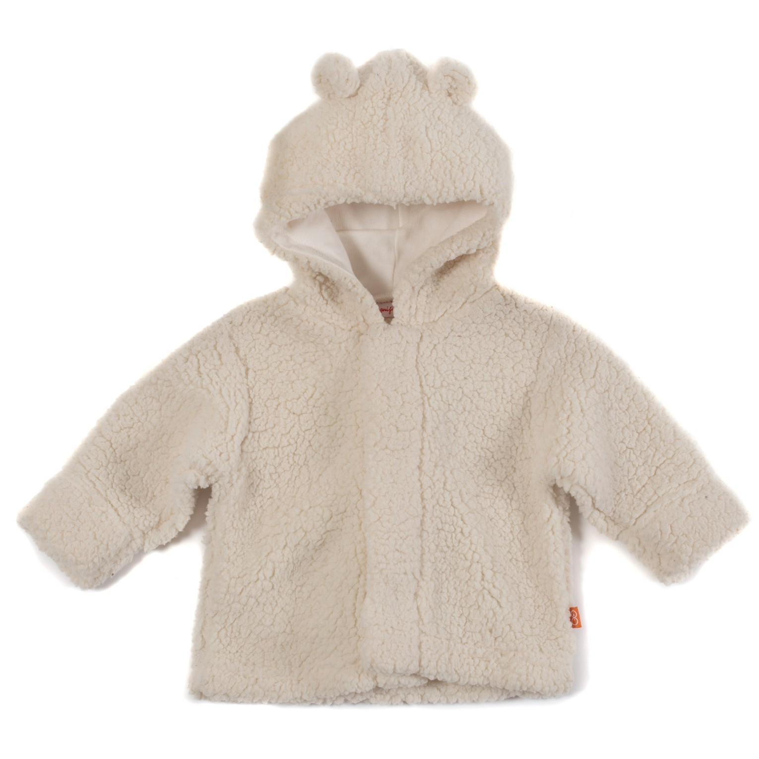 Fleece Magnetic Hooded Jacket (Cream)