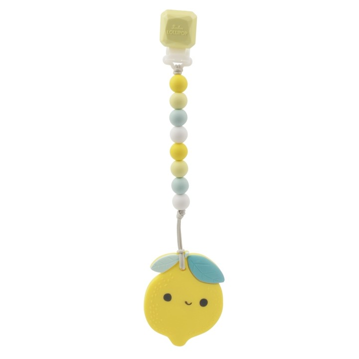 Silicone Teether Clip Set (Lemon)