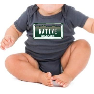 Little Locals CO Native-License Plate Bodysuit