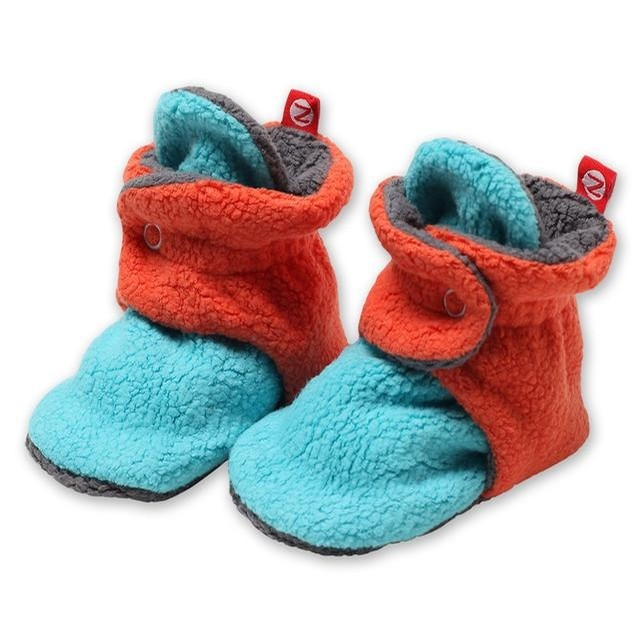 Cozie Fleece Color Block Booties