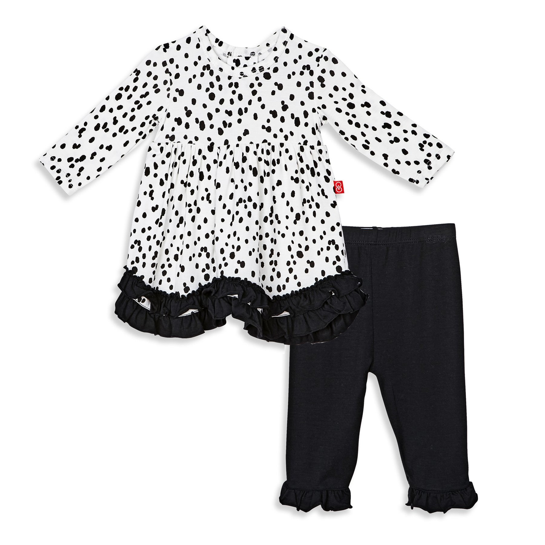 Modal Magnetic Dress Set With Pants (Seeing Spots)